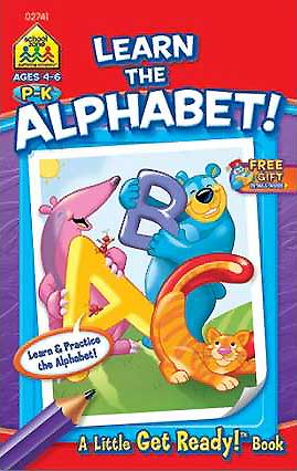 toko mainan online School Zone Learn the Alphabet! A Little Get Ready! Book (Learn & Practise the Alphabet!)