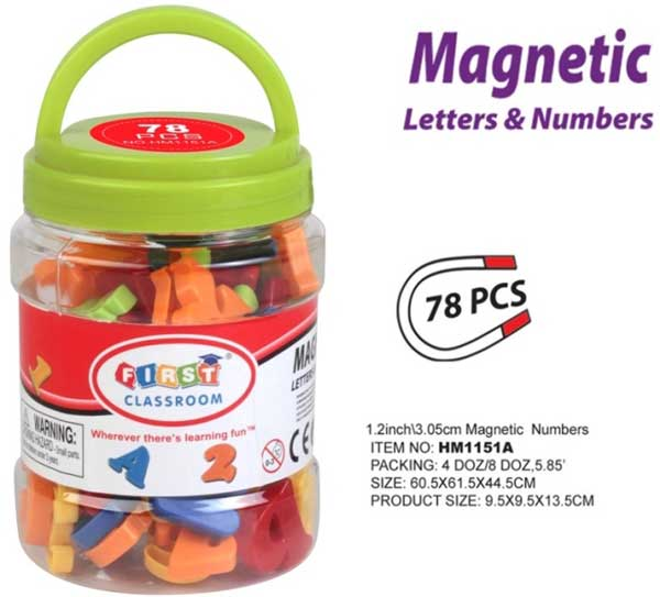 toko mainan online Magnetic Letter Number Toples 78pc