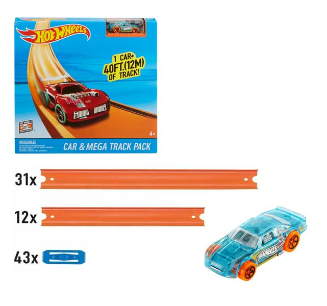 toko mainan online HOT WHEELS CAR & MEGA TRACK PACK - FTL69