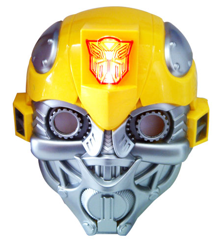 toko mainan online TOPENG TRANSFORMER BUMBLE BEE (NYALA)