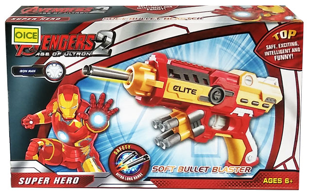 toko mainan online SOFT BULLET BLASTER IRON MAN - SB215
