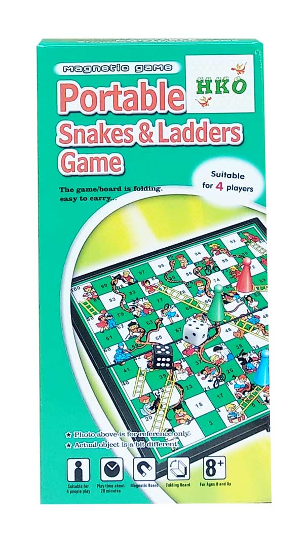 toko mainan online PORTABLE SNAKES & LADDERS - QX6610