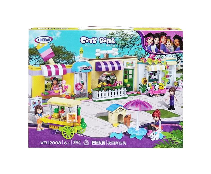toko mainan online CITY GIRL 597PCS - 12008