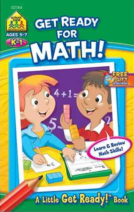 toko mainan online School Zone Get Ready for Maths! A Little Get Ready! Book (Learn & Review Maths Skills!)
