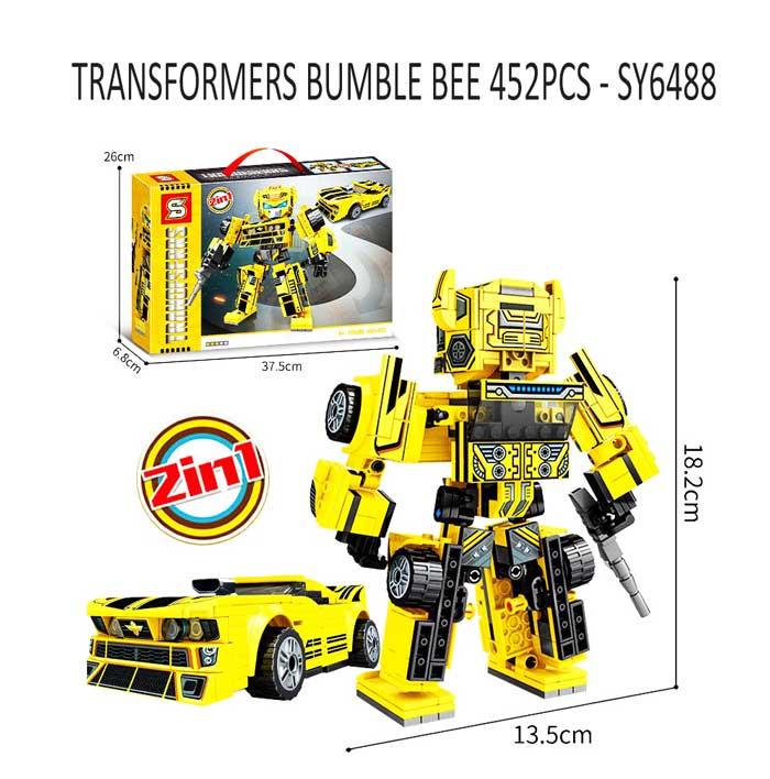toko mainan online TRANSFORMERS BUMBLE BEE 452PCS - SY6488