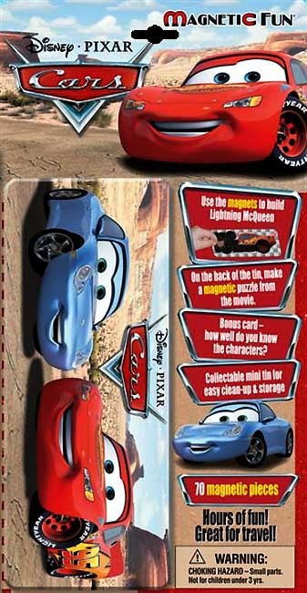 toko mainan online Magnetic Fun Disney Pixar Cars Tin Box (70 magneti