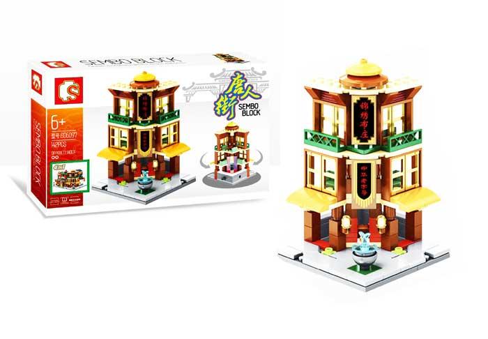 toko mainan online SEMBO CHINA TOWN 142PCS - SD6097