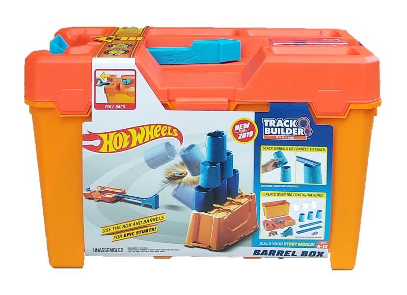 toko mainan online HOT WHEELS TRACK BUILDER BARREL BOX - GCF91