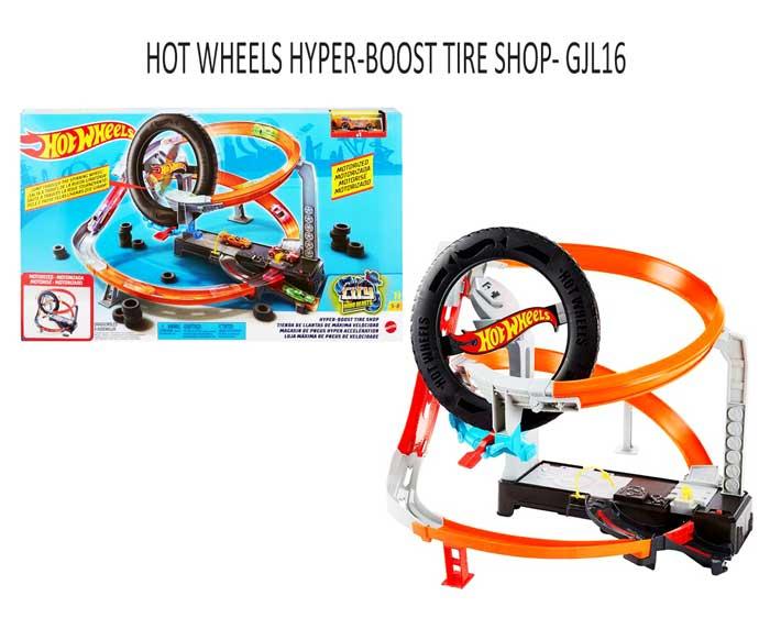 toko mainan online HOT WHEELS HYPER-BOOST TIRE SHOP- GJL16