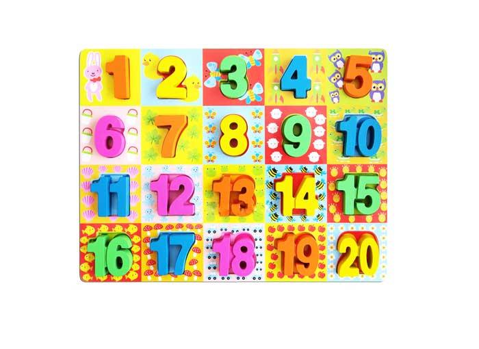 toko mainan online PUZZLE ANGKA 1-20 (TEBAL) - 259-19