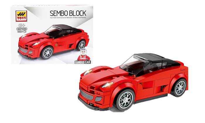 toko mainan online SEMBO CAR 182PCS - SD607049