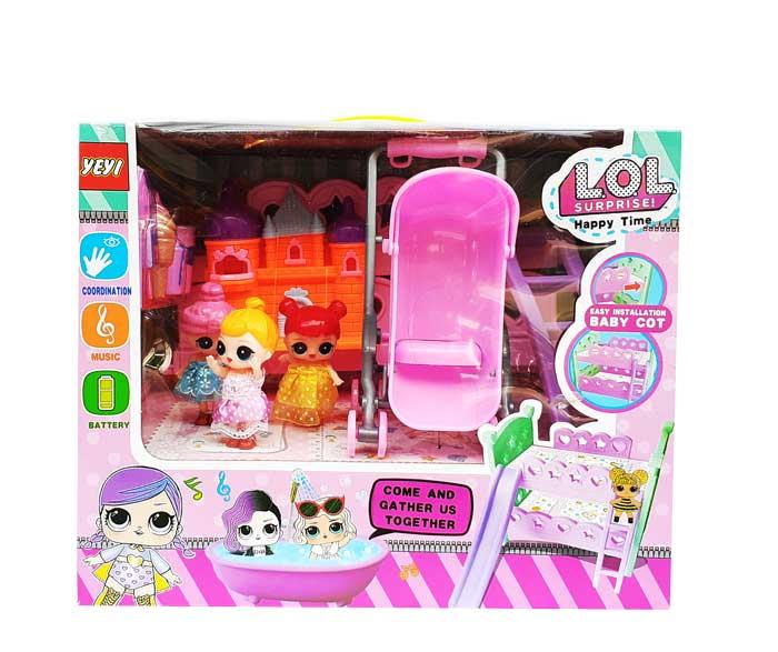toko mainan online LOL HAPPY TIME (STROLLER) - YM77-12