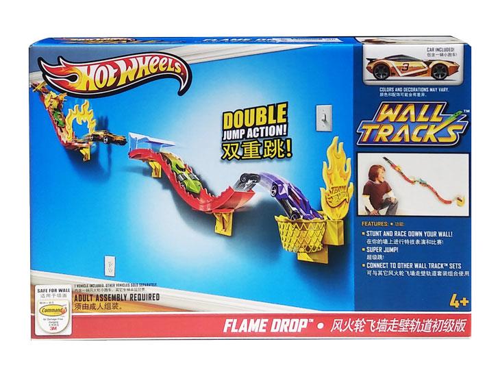 toko mainan online HOT WHEELS WALL TRACKS FLAME DROP - W3417