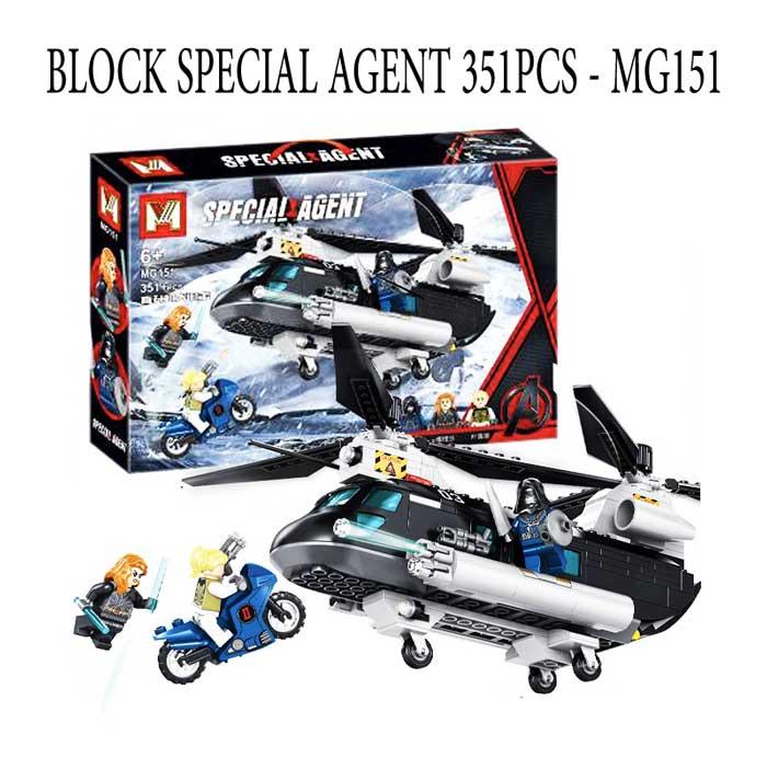 toko mainan online BLOCK SPECIAL AGENT 351PCS - MG151