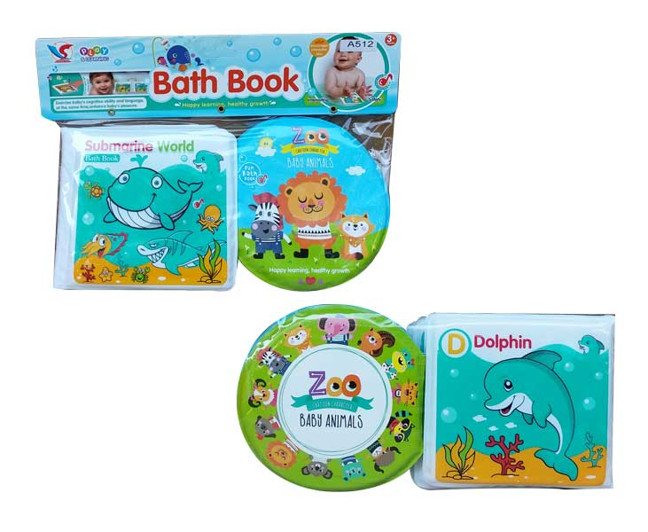 toko mainan online BATH BOOK ANIMALS - A512