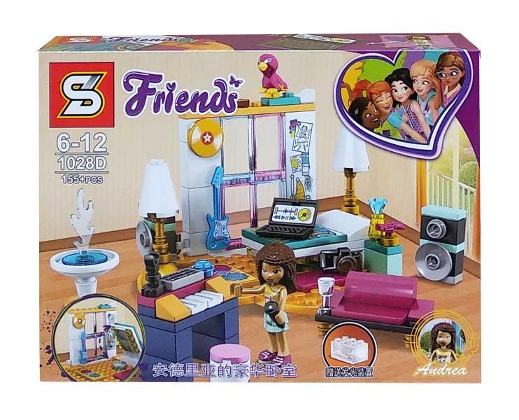 toko mainan online BLOCK FRIENDS ANDREA 155PCS - 1028D