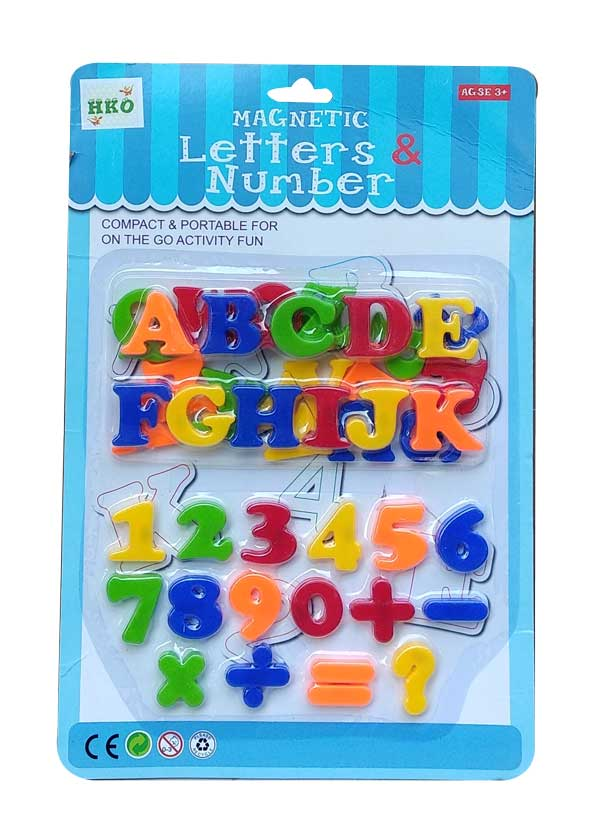 toko mainan online MAGNETIC LETTERS&NUMBER - QJ5562