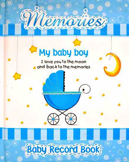 toko mainan online Memories My Baby Boy - Baby Record Book (BLUE)