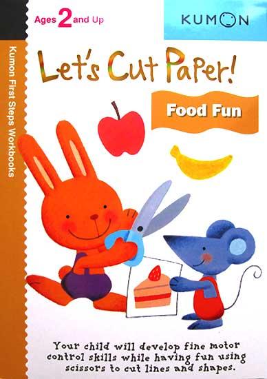 toko mainan online Kumon LETS CUT PAPER! FOOD FUN