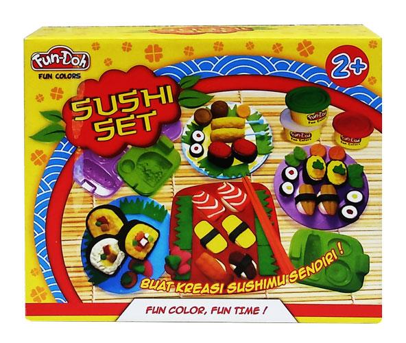 toko mainan online DOugh Sushi SET - 28065