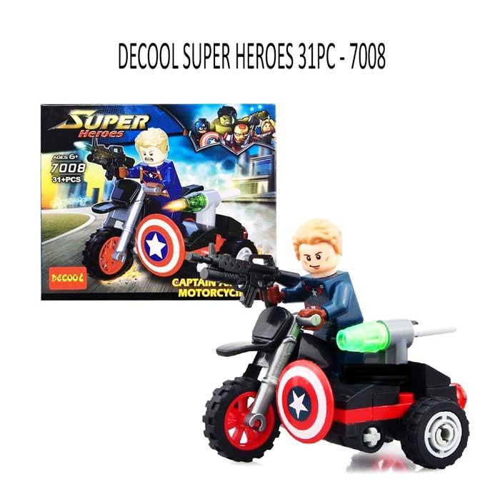 toko mainan online DECOOL SUPER HEROES 31PC - 7008
