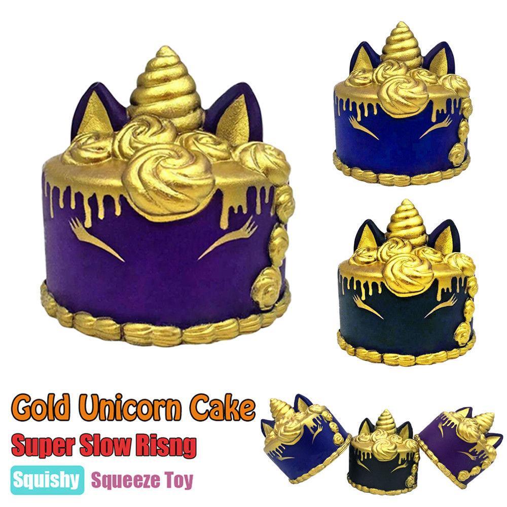 toko mainan online SQUISHY CAKE UNICORN GOLD - LC386