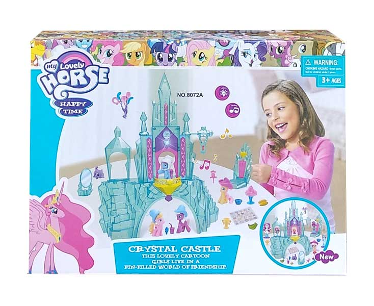 toko mainan online LOVELY HORSE CRYSTAL CASTLE - 8072A