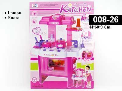 toko mainan online Kitchen oven Pink 008-26